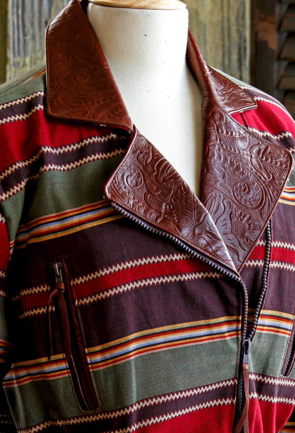 serape cruiser jacket lapel