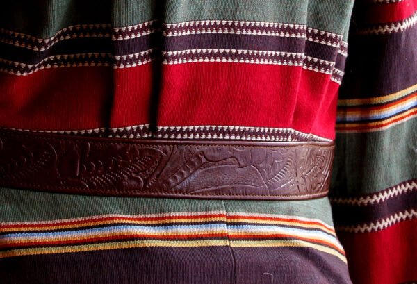 serape cruiser jacket belt detail