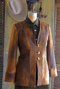 multi tone leather jacket
