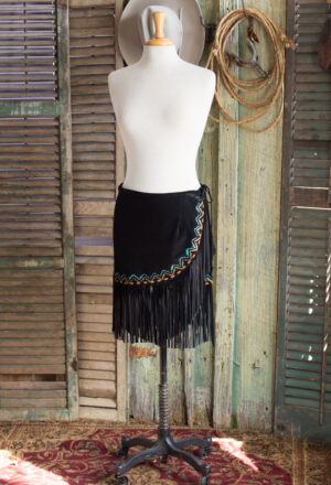 Mini Aspen Fringed Suede Skirt