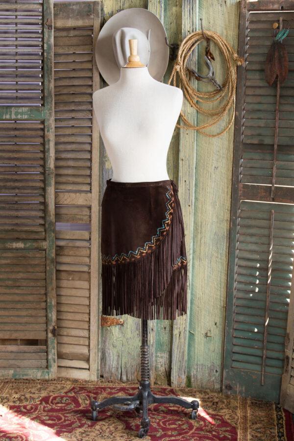 Mini Aspen Fringed Suede Skirt
