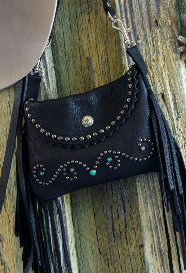 black pouch close up