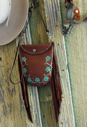 chocolate desert rose crocket pouch