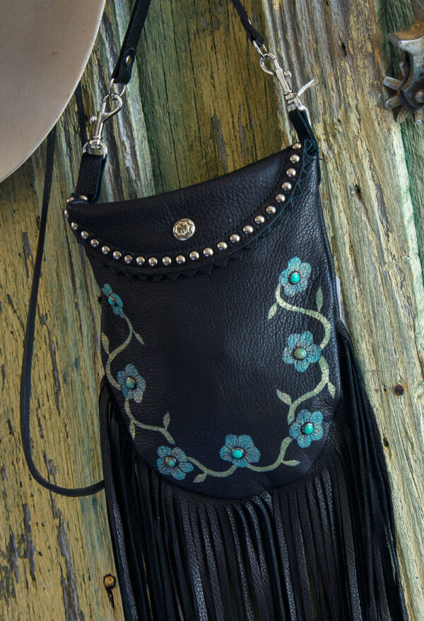 black desert rose crocket pouch close up