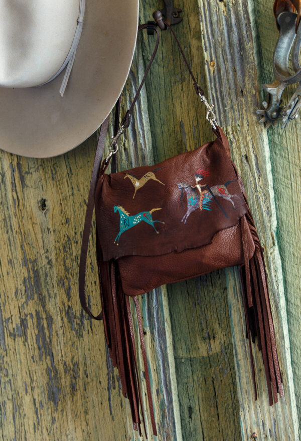 Arapahoe Ledger Horses Pouch