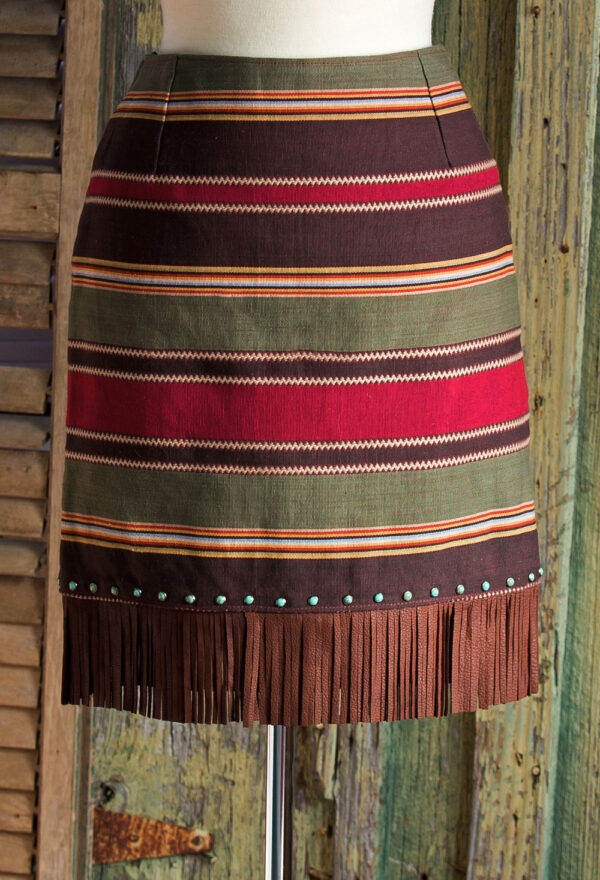 Fringed Serape Skirt