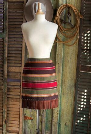 Fringed Serape Skirt